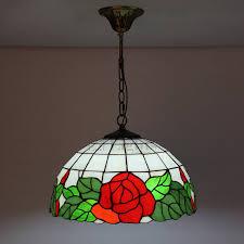 Pendant Lighting Glass Shades Beautiful Rose Flower Glass Shade Tiffany Pendant Lights