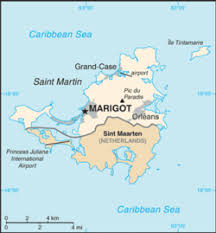 map of st martin collectivity of martin