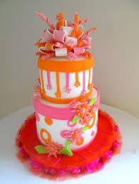 pink and orange baby shower cake pink and orange baby shower
