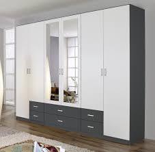 Schlafzimmer Schrank Lila Kleiderschrank 6 Türen Schrank Spiegel 6 Schubkästen Schlafzimmer