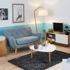 canape alinea 2 places poppy meuble canapé 2 places fixe esprit scandinave bleu salons