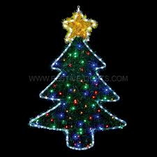 outdoor tinsel christmas tree silhouette 90 multi colour leds