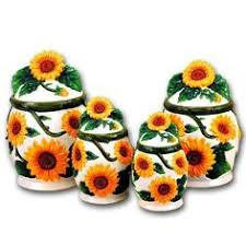 sunflower kitchen canisters new ack 3d painted sunflower kitchen canisters storage jars 4