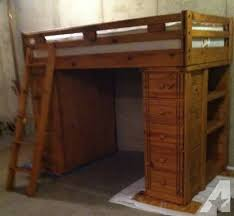 Bunk Bed With Desk And Drawers Loft Bunk Bed With Desk 5 Drawers 3 Shelves Mattress For Sale