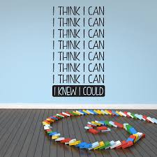 boys room wall stickers i think i can i knew i could wall art wall sticker quote