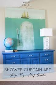 Artistic Shower Curtains Diy Shower Curtain Art3 Make It At Home Diy Shower