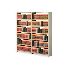 Tennsco Bookcase Tennsco File Shelf 36x12x88 Ad Sd Each Model 1288acsd