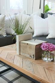 coffee table decor ideas herringbone table top coffee table