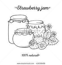strawberry jam vector sketch stock vector 418359499 shutterstock