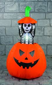 halloween inflatable pumpkin with pop up skeleton halloween