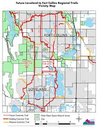 colorado front range map city of loveland co recreation trails