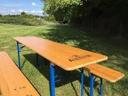 german beer garden table and bench allgäuer original german beer garden tables pick nick table