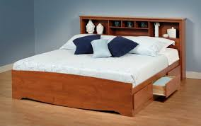 King Headboard With Storage Bed Frame With Storage And Headboard Amish Thedailygraff