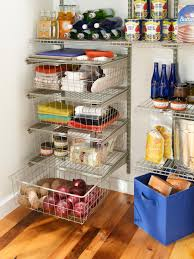 Kitchen Pantry Shelf Ideas by Kitchen Interesting Pantry Shelving With Wooden Flooring And Wire