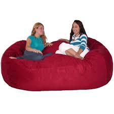 amazon com cozy sack 7 feet bean bag chair x large cinnabar
