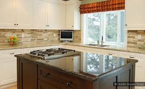 kitchen backsplashes for white cabinets travertine subway backsplash tile idea backsplash