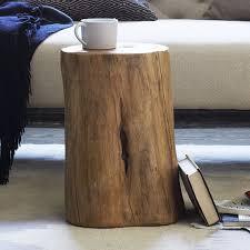 how to make a tree stump table make a tree stump side table