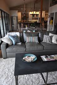 Coastal Living Room Design Ideas by Best 25 Grey Leather Couch Ideas On Pinterest Leather Living