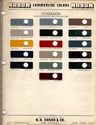 bob u0027s studebaker resource website studebaker paint codes 1936 1964