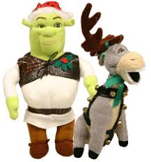 shrek and plush ornament set