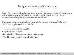 Waiter Job Description For Resume by Bar Waitress Application Letter In This File You Can Ref