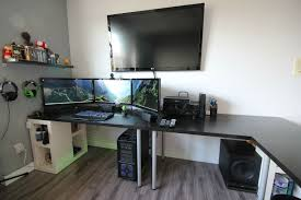 furniture ultimate gaming youtube setup 2015 dual monitors gtx