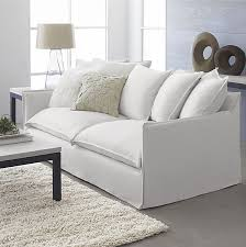 white linen sofa cover sofa style 20 chic seating ideas couch slipcover lounge sofa and