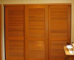 Sliding Louvered Closet Doors Nod To Shutters Louvered Sliding Closet Door Ideas Closets