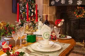 christmas dinner table setting christmas dinner table setting warm ambiance stock image image