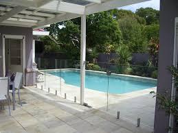 exteriors mazing big backyard ideas with concrete pool flooring