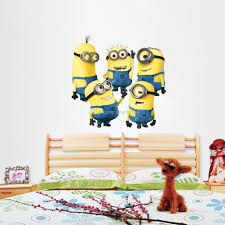 despicable me 2 minions wall stickers 3d wallpapers wall decals despicable me 2 minions wall stickers 3d wallpapers wall decals children removable wallpaper for kids room