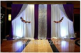 wedding backdrop background aliexpress buy express free shipping white purple paillette