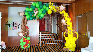 safari decorations baby shower duck balloons column search baby showers