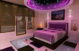 chambre violet et mauve moderne