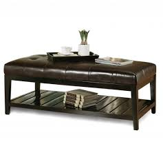 ottoman coffee table tufted leather small camel thippo
