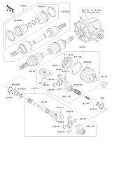 1998 kawasaki bayou 300 4x4 klf300c drive shaft front parts