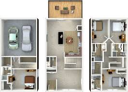 apartments three story townhouse floor plans townhouse plan