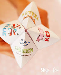 how to make a fortune teller skip to my lou