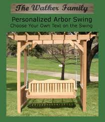 Garden Arbor Swing Personalized Deluxe Decorative Arbor Swing