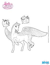 sylvie catania u0027s pegasus barbie coloring page more barbie