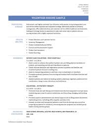 volunteer resume template resume sle for volunteer work targergolden dragonco volunteer