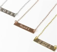custom gold necklace 14k gold filled name necklace custom gold bar necklace beautiz