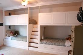 Four Bunk Bed Floor To Ceiling Bunk Bed With Stairs For Four Of A Gallery