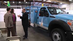 ford electric truck in stockton pg u0026e reveals utility industry u0027s first electric hybrid