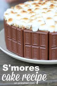 s u0027mores cake recipe pinkwhen