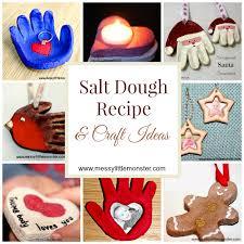 how to make salt dough printable recipe and craft ideas