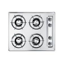 Gas Cooktops Canada Summit Appliance 24 In Gas Cooktop In Chrome With 4 Burners