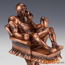 Fantasy Football Armchair Quarterback Trophy Arm Chair Quarterback Fantasy Football Trophy With 8 Name Plates