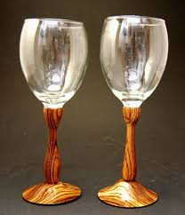 unique wine glasses anniversary gift idea wedding gift ideas exotic zebra wood glass set goblets rare zebra wood