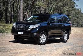 cars toyota black 2016 toyota landcruiser prado 2 8 review video performancedrive